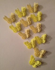 Shades Of Yellow 3D Butterflies by MonAmiePaperie on Etsy, $7.44