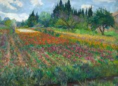 Paintings in arles france | Flower Farm, near Arles, France