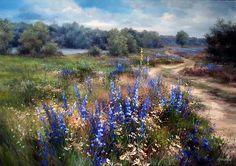 Найди меня, я в поле средь цветов... Художница Ольга Одальчук