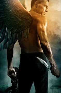 Be still my heart! Paul Bettany with wings... If he had fangs too I'd pass out !!!