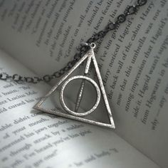 Rotating Harry Potter Deathly Hallows Necklace