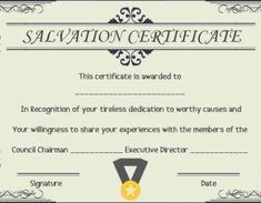 12 surprising certificate of salvation templates free resources included template sumo - Certificate Of Salvation Template