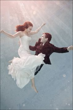 Underwater wedding photography .. creative..and fun!