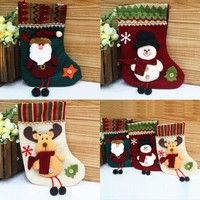 Feature: New and High Quality Xmas Stockings Material:Fabric Size:25*13cm(Approx.) Pattern: Santa Cl