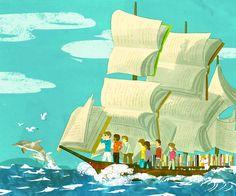 Pinzellades al món: Il·lustracions de Tatsuro Kiuch: biblioteques fantàstiques, lectura propera