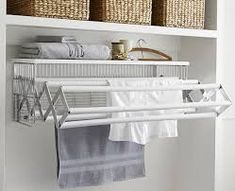 """Fantastic """"laundry room storage diy cabinets"""" detail is readily available on our internet site. Take a look and you wont be sorry you did. Drying Rack Laundry, Laundry Room Organization, Laundry Room Design, Laundry Closet Makeover, Laundry Room Shelving, Small Laundry Closet, Storage Organization, Craft Storage, Organized Laundry Rooms"""
