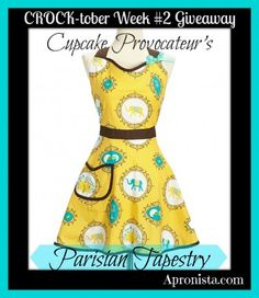 CROCK-tober Parisian Tapestry Apron Giveaway from Cupcake Provocateur at Apronista.com