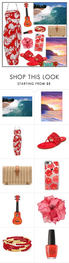 """August Destination- Hawaii"" by tlb0318 ❤ liked on Polyvore featuring Hai, J.Crew, Casetify, Racil and Chrysalis"