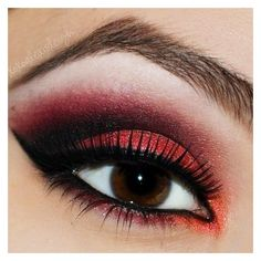 Where To Buy Red Eyeshadow? ❤ liked on Polyvore featuring beauty products, makeup, eye makeup, eyeshadow, eyes and eye shadow