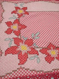 Chicken Scratch Embroidery, Labor, Hand Stitching, Smocking, Gingham, Hand Embroidery, Cross Stitch, Kids Rugs, Crochet
