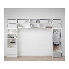 PLATSA Wardrobe - white, Fonnes Sannidal - IKEA- PLATSA Wardrobe IKEA You'll be able to maximise your space for storing by making a storage resolution that bridges over your mattress, desk or seating. Bedroom Closet Design, Small Room Bedroom, Home Bedroom, Interior Design Living Room, Bedroom Decor, Ikea Bedroom Storage, Recycled Door, Wardrobe Storage, Ikea Wardrobe