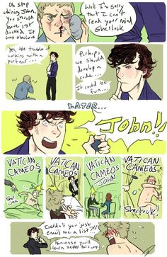"The back story on why John knew to duck when Sherlock said ""Vatican Cameos"""