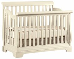 318a9e38c63 All Seasons Built to Grow Sleigh Convertible Crib with Slats by Young  America  HudsonsFurniture Baby