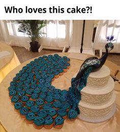 I do!  Peacock wedding cake