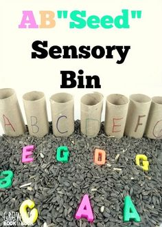 Alphabet Activities: a fun way to practice letter recognition with a sensory twist!