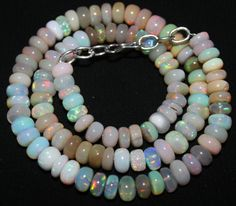 "108 Crts 1 Strands 7 to 8 mm 16"" Beads necklace Ethiopian Welo Opal  AA+++7051"