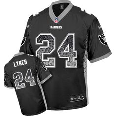 bd271bc5e Nike Raiders  24 Marshawn Lynch Black Men s Stitched NFL Elite Drift  Fashion Jersey Eric Berry