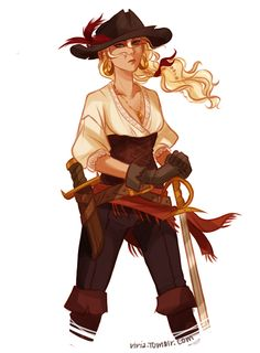 pirate!Annabeth - viria