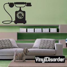 Classic Telephone Wall Decal - Vinyl Decal - Car Decal - Mv003