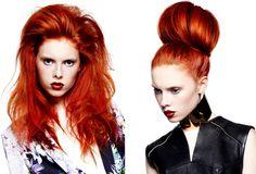 Rood haar, of het nu natuurlijk is of geverfd, blijft altijd een eyecatcher. Hier twee mooie voorbeelden van een prachtige...