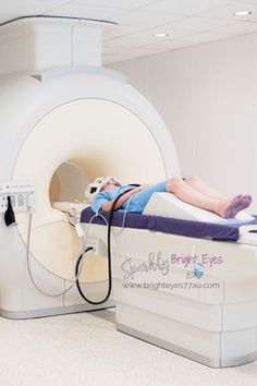 Having an MRI scan M