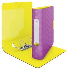 Leitz Qualitäts-Ordner 180° Active Retro Chic Active Ordner mit ausdrucksstarkem Retro Design und fetzigen Farbkombinationen. Leichtes Material und ergonomische Form für eine komfortable Nutzung unterwegs.