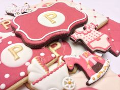 Baby P Baby Shower Cookie Favors | The Sweet Atelier