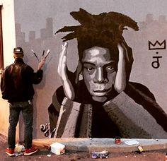 #TBT 10/15, Basquiat portrait by Oji in Paris (LP)