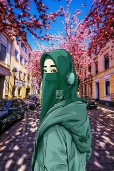 Aesthetic Wallpapers, Muslim, Anime Art, Artsy, Animation, Niqab, Cartoon, Illustration, Artwork