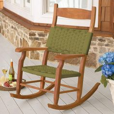Outdoor rocking chairs, these are the best, my mom has them at her house, they don't make a sqeak!