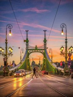 Budapest - Hungary lovely night 😍 ___ ___ Photo by Beautiful Places To Visit, Wonderful Places, Monuments, King B, Budapest Travel Guide, Liberty Bridge, Plitvice Lakes National Park, Destination Voyage, Sky And Clouds