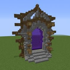 Large Nether Portal Design - GrabCraft - Your number one source for MineCraft bu. - Explore the best and the special ideas about Cool Minecraft Houses Minecraft Bauwerke, Minecraft Portal, Construction Minecraft, Minecraft Statues, Amazing Minecraft, Cool Minecraft Houses, Minecraft Crafts, Minecraft Designs, Minecraft Buildings