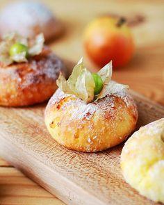 Cottage-cheese cakes. Сырники. Cottage Cheese Pancakes, Baked Potato, Cheesecake, Potatoes, Peach, Cookies, Baking, Fruit, Ethnic Recipes