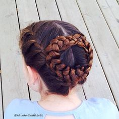 """Amelia has a big outdoor field trip today! I've heard rumor that ticks are already out and bad, so I decided to pull her hair up as much as possible. This style, though it doesn't appear the same at all was actually inspired by @hair4myprincess swirling braids updo. Love how this turned out! Have a great Wednesday everyone! "" Photo taken by @hairandnailscat on Instagram, pinned via the InstaPin iOS App! http://www.instapinapp.com (04/29/2015)"