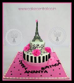 Paris Theme Birthday Cake By Central