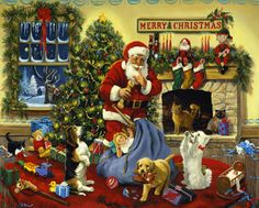 Santa's Beggars Jigsaw Puzzle