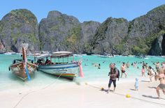 Maya Bay on Koh Phi Phi Leh, Thailand, one of the best beaches in Southeast Asia