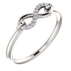 14K White .04 CTW Diamond Infinity-Style Ring