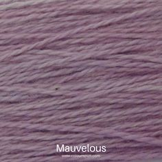 A ColourSpun Pure Cotton yarn and embroidery thread colour swatch. This colour is called Mauvelous Colour Swatches, Super Chunky Yarn, Fabric Yarn, Yarn Colors, Embroidery Thread, Mauve, Fabric Design, Cotton