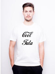 T-Shirt męski z nadrukiem dla taty - Cool Tata w Allbag-Allprints na DaWanda.com