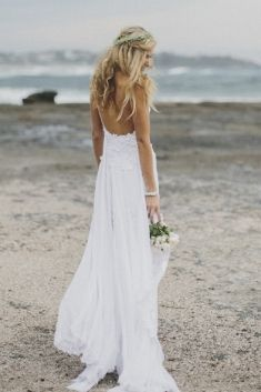 Grace Loves Lace collection. White wedding dress beach