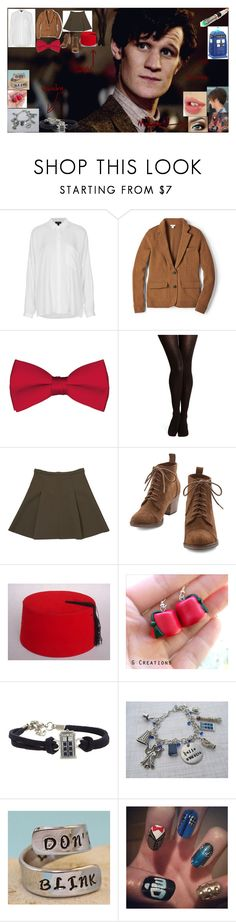 """""""Doctor Who - 11th Doctor (Matt Smith)"""" by take-me-to-neverland-dear ❤ liked on Polyvore featuring Topshop, FOSSIL, M&S and J Brand"""