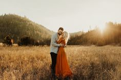 Classy Boho McCall Idaho Engagements in the Fall // Stunning burnt orange dress engagement engagement engagement photos engagement pictures photography pics pictures shoots engagement engagement Fall Engagement Outfits, Engagement Photo Dress, Fall Engagement Shoots, Engagement Photo Inspiration, Engagement Photography, Engagement Session, Photography Couples, Photography Outfits, Photography Tricks