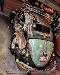 """roadkillcustoms: """"More Volkswagens & Volks Rods Roadkill Customs """" Volkswagen Beetle, Volkswagen Karmann Ghia, Vw Bugs, German Look, Vw Rat Rod, Vw Fox, Kdf Wagen, Rat Look, Vw Vintage"""