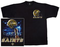 Saints Logo Sky Helmet - T-Shirt