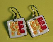All About Me Earrings Handmade Porcelain Jewelry Dangle By Linda Cain