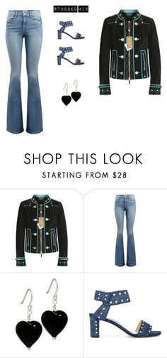 """""""Studded Mix"""" by retrosam76 ❤ liked on Polyvore featuring Gucci, Frame and Jimmy Choo"""