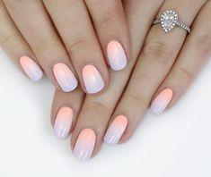 The advantage of the gel is that it allows you to enjoy your French manicure for a long time. There are four different ways to make a French manicure on gel nails. Gradient Nails, Neon Nails, Pastel Nails, Love Nails, Pretty Nails, Coral Ombre Nails, Galaxy Nails, Glitter Nails, Simple Wedding Nails