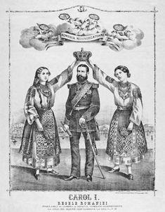 Carol I, proclamat Rege al României de Camera şi Senatul României independente în 1881.