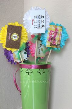 Southern Mess: Saw it. Pinned it. Did it. - Gift Card Bouquet